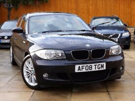 2008 BMW 120D M SPORT 5DR ***2 OWNER+FULL BMW HISTORY+LEATHER*** **** 118d 1 3 series 320d 318d golf