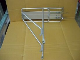 Bicycle alloy rear luggage carrier.