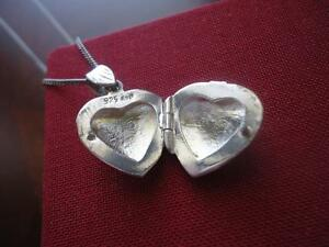 Sterling Silver .925 heart locket with chain