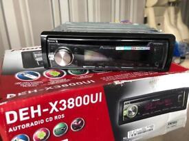 Pioneer Deh-x3800ui car cd player usb aux