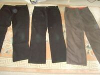 LADIES BLACK JEANS &COMBAT TROUSERS - 50P EACH