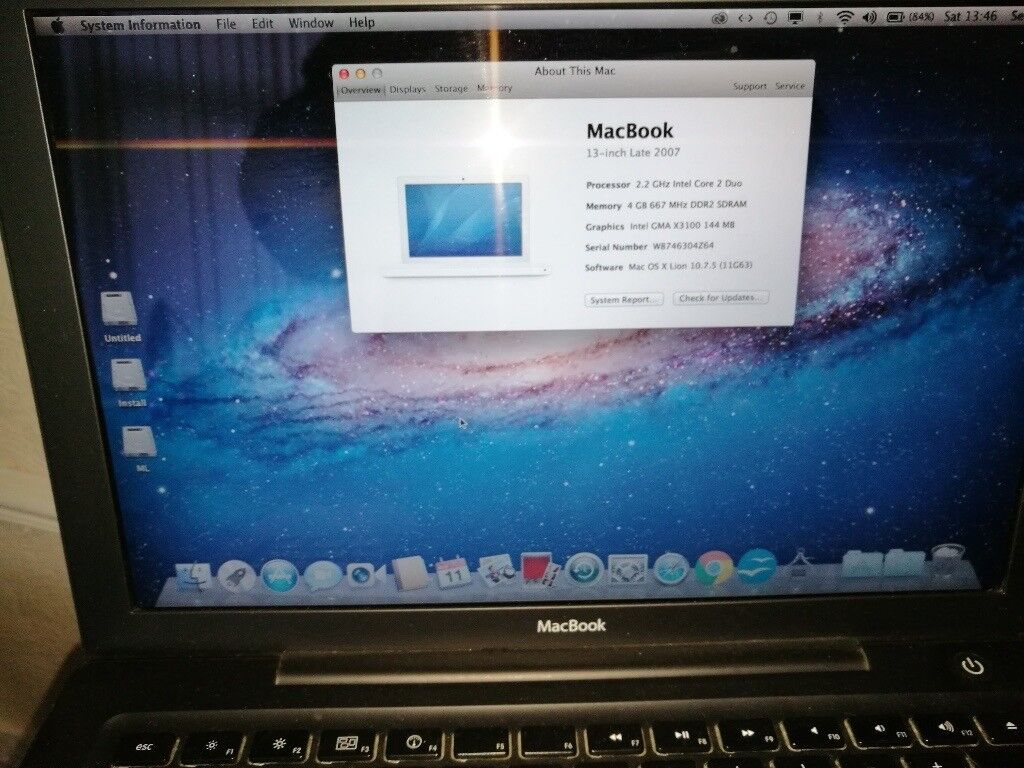 Rare black Late 2007 Macbook In great condition 4GB RAM 160GB HDD