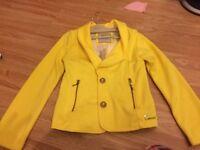 Yellow blazer age 8