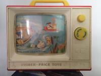 Vintage fisher price musical tv toy