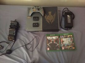 Xbox One 1TB Limited Edition with 2 games and docking station.