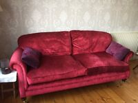 Red Velvet Laura Ashley Sofa