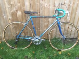 Vintage Peugeot bike blue small frame