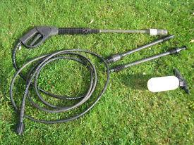 Hose and gun for Bosch Aquatak 110 & 115 pressure washer plus spare lances