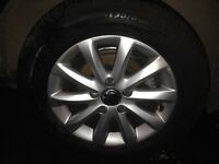 07 Mk5 VW Golf 15 inch alloy wheel and tyre