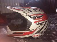 Large Bell Motorcycle Helmet.
