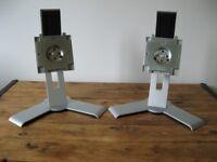 2 DELL Monitor Stands Ultrasharp 1907FP 1908FP 1707 1708. Swivel, tilt, up down.