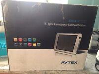 """Avtex 15"""" inch 12v volt or 240volt HD TV DVD USB CARAVAN MOTORHOME & BOAT"""