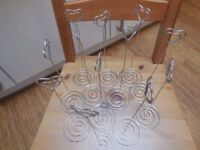 12 metal heart table number or name card holders - perfect for weddings or parties!