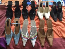 7 pairs of lady shoes size 6 uk 39 eu