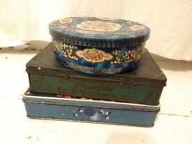 3 vintage tins