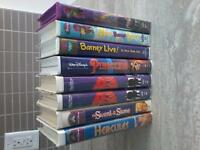 Lot of 8 Disney and Barney VHS Movies
