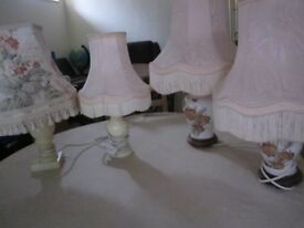 Table Lamps and Shades Ex Cond x 4