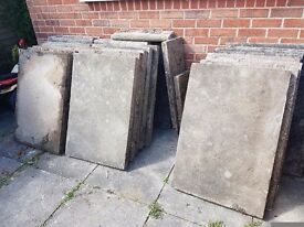 32 used council paving slabs