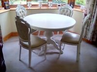 Shabby Chic Italian Style Table & Chairs