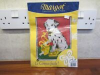 Half Cross-stitch Kit of a Dalmatian Puppy complete with threads. Brand new