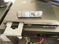Panasonic freeview 160 gb recorder dvd player and recorder with remote hdmi