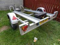 motorbike trailer 2 bike tips very good condition