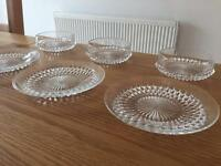 Glass Plates and Bowls (set of eleven)