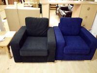 Armchair, fabric, wood feet, NEW ex-display 2 available £70 each