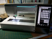 Janome MC15000 Top of the Range combined sewing and embroidery machine FAB machine
