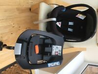 mamas and papas cybex aton car seat and isofix base