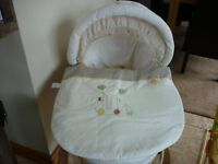 Moses Basket Mamas & Papas and Wooden Rocking Stand Luxury Padded Basket