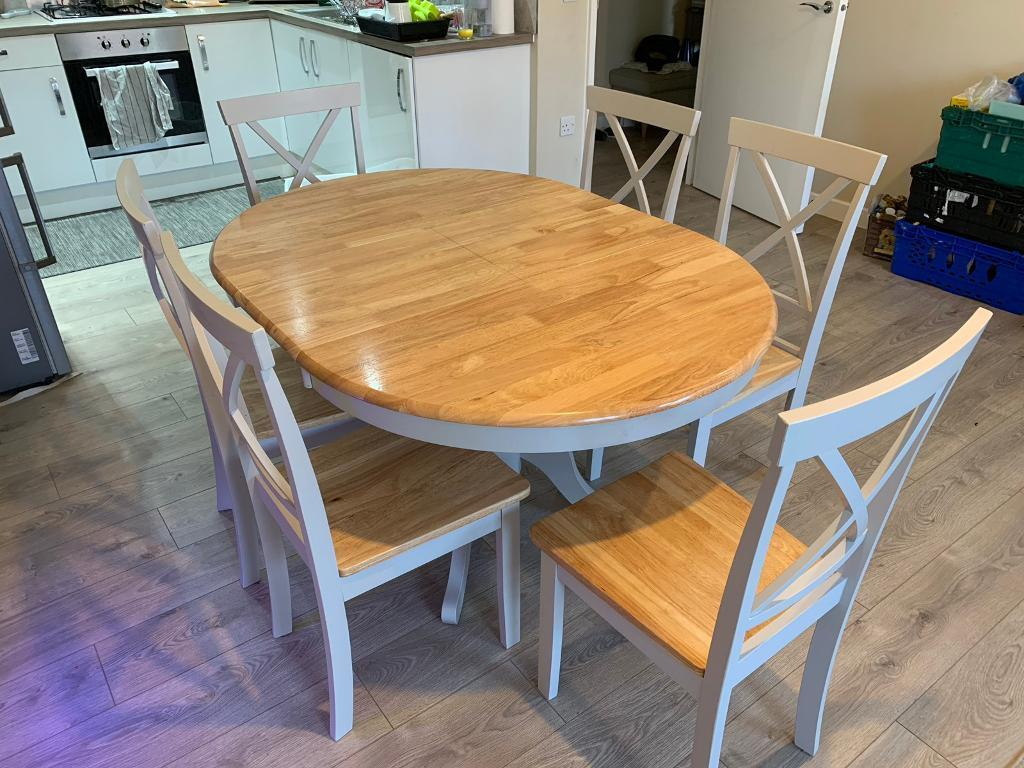 Extendable Dining Table 6 Chairs Wayfair In Newham London