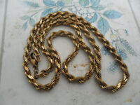 9 CARAT SOLID GOLD ROPE CHAIN