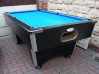 Professional Free Play Slate Bed DPT Club Pub League Pool Table 7x4 (6x3 Felted Bed Needs Reclothing