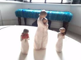 3 willow tree figures