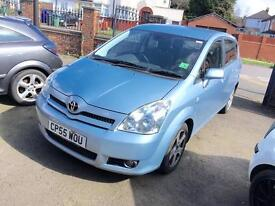 2005 TOYOTA COROLLA VERSO 2.0 DIESEL D4D 7 SEATER MPV ONLY 2 FORMER KEEPERS LADY OWNER LAST 6 YEARS