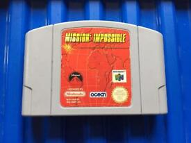 Nintendo 64 mission impossible game. N64