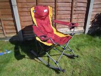 2 Rocking Camping Chairs, Folding £5 each Garden Chair Fishing