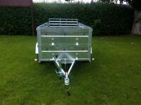 NEW Cars trailer 8,7'x4,2 x 2,62 twin axle,double broadside and ramp £ 1150 inc vat
