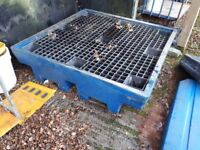 4 drum Sump Pallet with grating