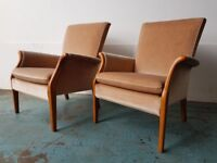 PAIR OF PARKER KNOLL ARMCHAIRS No PK 749-1014 FIRESIDE FABRIC CHAIRS DELIVERY AVAILABLE