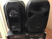 Skytec Active Powered Speaker Pair with Passive Slave Speaker 700w