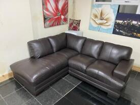 Left Hand 5 seater Brown sofa