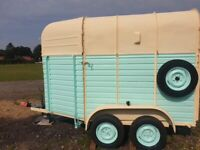 Vintage Rice Trailer Horse Box Glamping Pod Catering Trailer