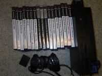 PS2 with 1 Controller 1 Memory Card and 17 games