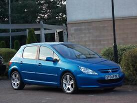 STUNNING LOW MILEAGE PEUGEOT 307 2.0 HDI XSI 136 BHP DIESEL ( TOP OF THE RANGE MODEL ) STUNNING !!