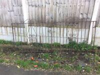 Set Of Wrought Iron Driveway Gates / Double Metal Gates