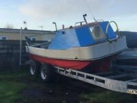 """Dellquay 18"""" hull boat project/outboard"""