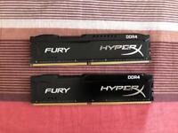 Kingston HyperX Fury 16GB DDR4 2133MHz (2x8gb sticks) Ram memory