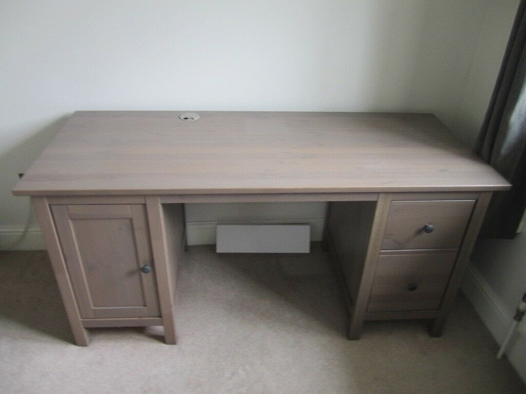 Ikea Hemnes Desk In Grey Brown Colour 155 Cm By 65 Rrp 225